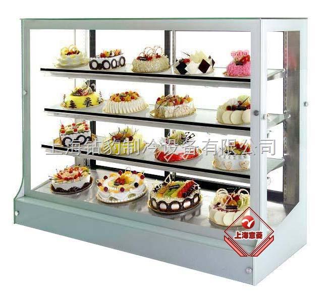 yl-17-欧式豪华蛋糕柜(大理石弧形四层)