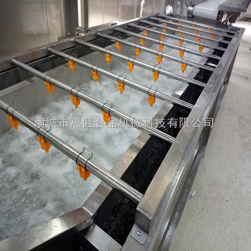 供应翻浪去泥果蔬清洗机气泡连续清洗机自动化产量大能耗低可定做
