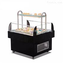 开放式三明治冷藏展示柜卧式敞开三文治柜蛋糕西点寿司面包保鲜柜