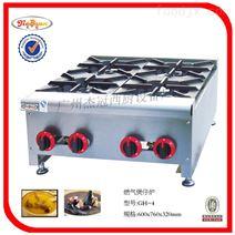 杰冠+台式四头燃气煲仔炉/煮食炉/炊事机械