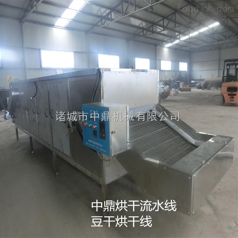 茶叶烘干机 全自动烘干流水线烘干机是一种批量、连续式生产的干燥设备,主要加热方式有电加热、蒸汽加热、热风加热。其主要原理是将物料均匀的平铺在网带上,网带采用12-60目的钢丝网带,由传动装置拖动在干燥机内往返移动,热风在物料间穿流而过,水蒸气从排湿孔中排出,从而达到干燥的目的,箱体长度由标准段组合而成,为了节约场地,可将烘干机制成多层式。 茶叶烘干机 全自动烘干流水线烘干机维护保养: 1.