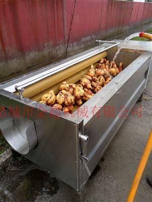 土豆u型毛辊清洗机根茎类蔬菜清洗去皮机