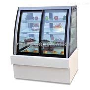 富祺面包店欧式前开门蛋糕展示柜点心冷藏柜