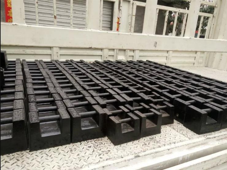 砝码25公斤 锁型砝码25千克 铸铁砝码
