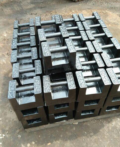 锁型砝码20公斤25公斤(电梯检测,电子秤标定用)